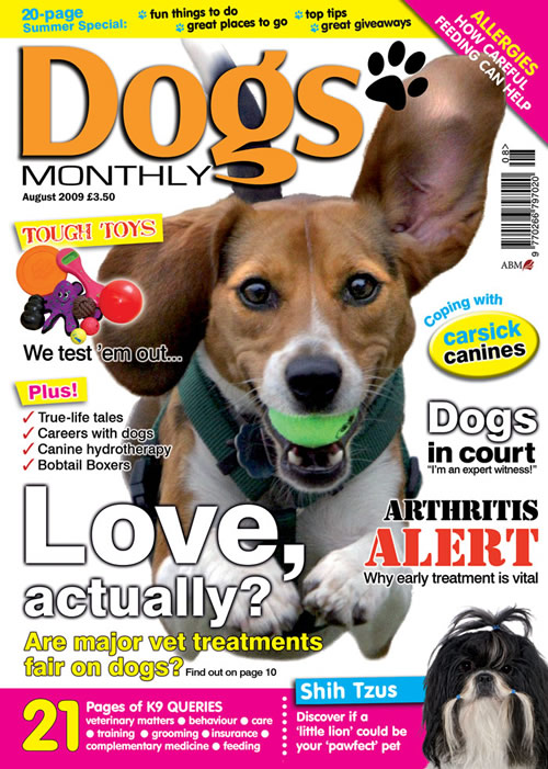 dogs monthly magazine   august 2009   dogs monthly